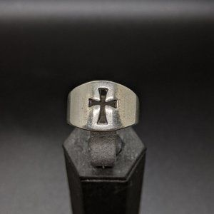 James Avery Sterling WIDE Open Crosslet Ring